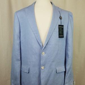 NWT Lauren by RL 100% Linen Blue Sport Coat